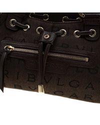 Bolsa de mano en cuero marrón BVLGARI de color Brown