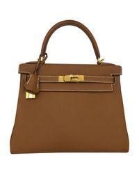 Hermès - Brown Pre-owned Kelly 28 Leather Handbag - Lyst