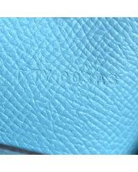 Portafoglio in pelle blu di Hermès in Blue