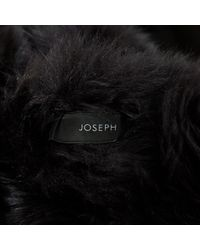 Joseph Black Suede Coat