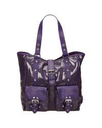 Cabas de Lona Mulberry de color Purple