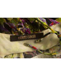 Roberto Cavalli Yellow \n Multicolour Silk Top