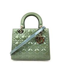 Dior Green Lady Lackleder Cross Body Tashe