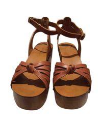 Étoile Isabel Marant Brown Camel Leather