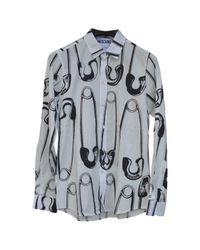 Camicia in cotone bianco di Moschino in White da Uomo