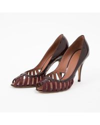 Giuseppe Zanotti Multicolor \n Burgundy Leather Heels