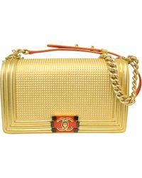 Chanel - Metallic Boy Leather Handbag - Lyst