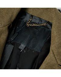 Burberry Green Khaki Wool Coat