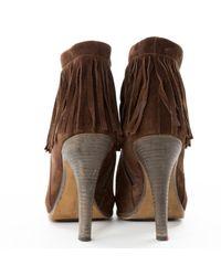 Barbara Bui \n Brown Suede Ankle Boots