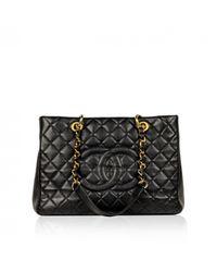 Chanel Black Grand Shopping Leder Handtaschen