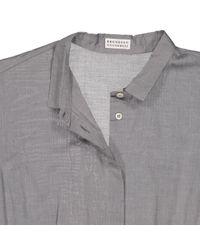 Brunello Cucinelli Gray Hemd