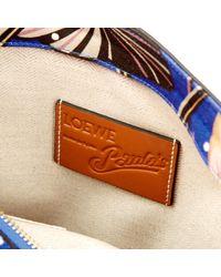 Loewe Blue T Pouch Leinen Clutches