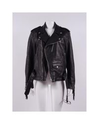 Golden Goose Deluxe Brand Black Leather Jacket