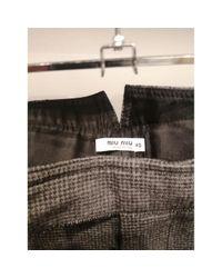 Shorts \N en Laine Gris Miu Miu en coloris Gray