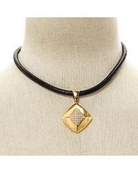 BVLGARI - Metallic Pyramide Gold Yellow Gold Necklace - Lyst