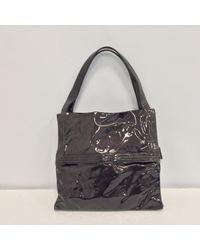Ferragamo Gray Lackleder Handtaschen