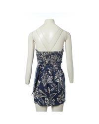 Mini robe en soie Isabel Marant en coloris Blue