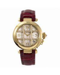 Cartier Metallic Pasha Gelbgold Uhren