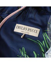Vestido en viscosa azul \N Emilio Pucci de color Blue