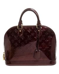 Louis Vuitton Multicolor Alma Lackleder Handtaschen