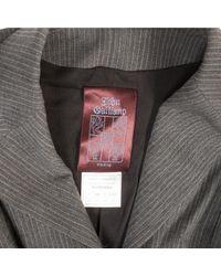 Vest \N en Laine Gris John Galliano en coloris Gray