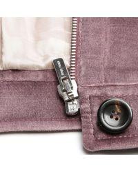 Vest \N en Velours Violet Miu Miu en coloris Multicolor