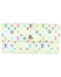 Cartera en lona blanco Louis Vuitton de color White