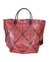 Bottega Veneta \n Red Leather Handbag