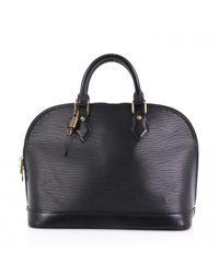 Sac à main Alma en cuir Louis Vuitton en coloris Black