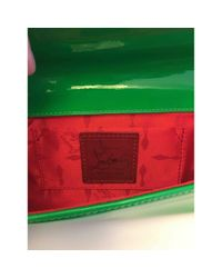 Christian Louboutin Green Lackleder Clutches