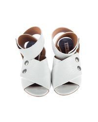 Acne Pre-owned White Leather Sandals