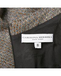 Carolina Herrera Black Wolle Midi Kleid
