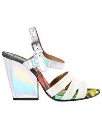 Dries Van Noten White Cloth Sandals