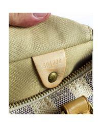 Louis Vuitton White Speedy Leder Handtaschen