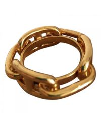 Hermès - Metallic Pre-owned Gold Metal Ring Chaîne D'ancre - Lyst