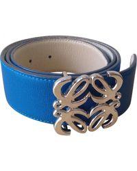 Loewe Blue And Cream Leather Reversib...