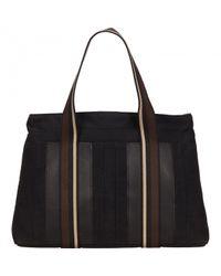Hermès Black Leinen Shopper