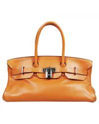 Hermès Orange Birkin Shoulder Leder Handtaschen