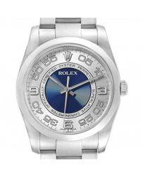 Orologio in acciaio argentato Oyster Perpetual 36mm di Rolex in Multicolor da Uomo