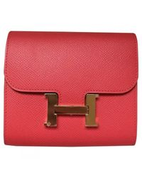 Hermès Constance Red Leather Wallets