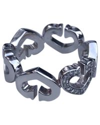Cartier - Metallic Pre-owned C White Gold Ring - Lyst