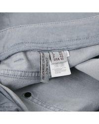 Brunello Cucinelli Gray Gerade Jeans