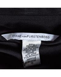 Robe en Soie Noir Diane von Furstenberg en coloris Black