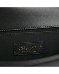 Chanel Black Boy Leinen Handtaschen