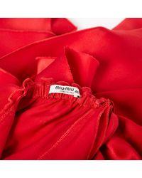 Miu Miu Red Seide Mini Kleid