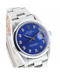 Orologio in acciaio blu Oyster Perpetual 34mm di Rolex in Blue da Uomo