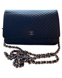 Chanel Blue Wallet On Chain Leder Cross Body Tashe