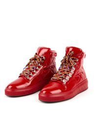Chanel Red Lackleder Sneakers
