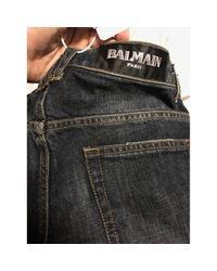 Jeans \N en Coton Bleu Balmain pour homme en coloris Multicolor