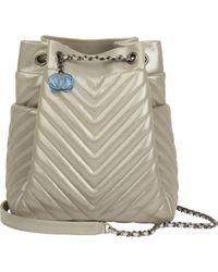 Chanel Metallic Leder Handtaschen